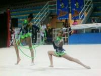 Le ragazze della Polisportiva Senigallia-Sezione ginnastica ritmica al trofeo Uisp (seconda prova) 2015