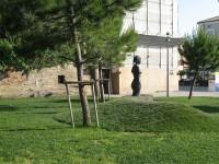 L'arredo urbano presso i giardini Catalani, a Senigallia