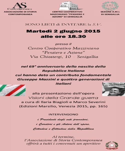 Festa della Repubblica, conferenza