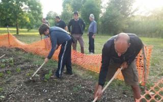 L'orto coltivato dai corsisti dell'associazione Merope
