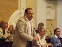 Le opposizioni (UC e M5S) durante il primo consiglio comunale di Senigallia