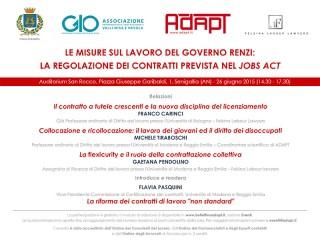 Evento Jobs Act - GiO Adapt