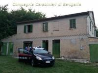 Il casolare a Pianello di Ostra dove è stato recuperato l'hashish dai Carabinieri di Senigallia