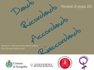locandina del concerto dedicato a Maria Nilde Cerri