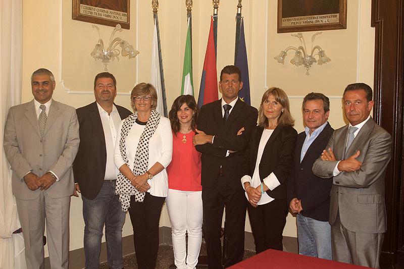 La giunta del nuovo mandato elettorale del sindaco di Senigallia Maurizio Mangialardi
