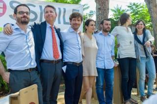 """21 giugno 2015, Roma: presentazione del movimento """"Possibile"""": Beatrice Brignone a fianco di Giuseppe Civati"""