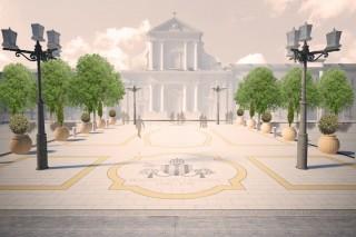 """La """"nuova"""" piazza Garibaldi dopo l'intervento di riqualificazione dell'isolato denominato """"Orti del Vescovo"""""""