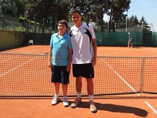 A sinistra Matteo Mancini (Senigallia Tennis Club) e Matteo Sottocornola (AT Ancona)