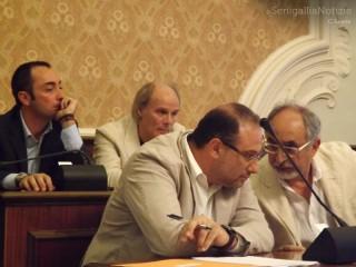 I gruppi consiliari di opposizione: Alan Canestrari (Forza Italia), Roberto Paradisi e Luigi Rebecchini (Unione Civica) e Daniele Messersì (Lega Nord)