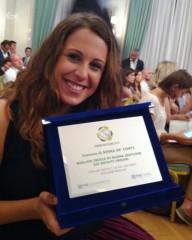 Nella foto: l'Assessore Elena Brugiaferri con la targa in occasione della premiazione romana