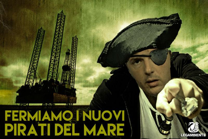 Matteo Renzi visto da Goletta Verde
