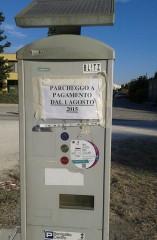 Il parcometro di Villa Torlonia non in funzione