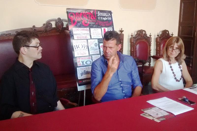 Presentazione del festival Bacajà! 2015. Da sx: Anzalone, Mangialardi, Bucari