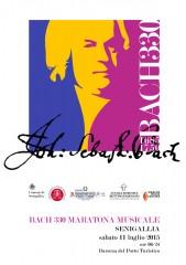 La brochure della maratona musicale a Senigallia, dedicata a Bach
