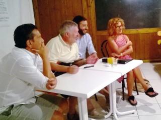 I coordinatori de La Città Futura: Massimiliano Giacchella, Virgilio Marconi, Massimiliano Grossi e Francesca Paci