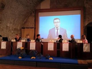 Il Commissario Europeo per la Ricerca Carlos Moedas all'incontro a Camerino sullo stato d'attuazione della Carta europea dei ricercatori