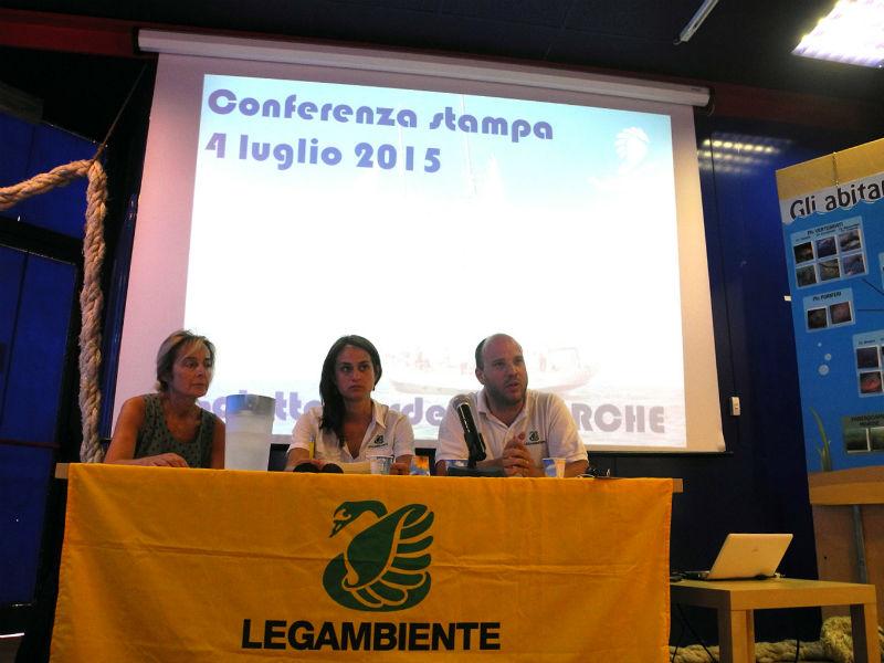 conferenza stampa di Legambiente del 4 luglio ad Ancona