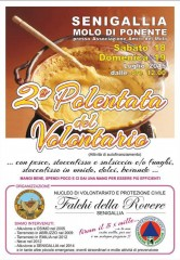 """l'associazione Volontari di Protezione Civile """"Falchi della Rovere"""" di Senigallia organizza la """"polentata del volontario"""""""