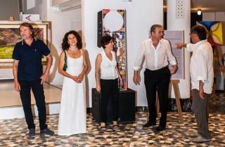 Alcuni artisti del Movimento Introvisione alla Rotonda di Senigallia. Nella foto allegata, da sinistra: Giovanni Schiaroli, Monica Rafaeli, Monia Frulla, Roberto Giovannetti e Walter Ferro