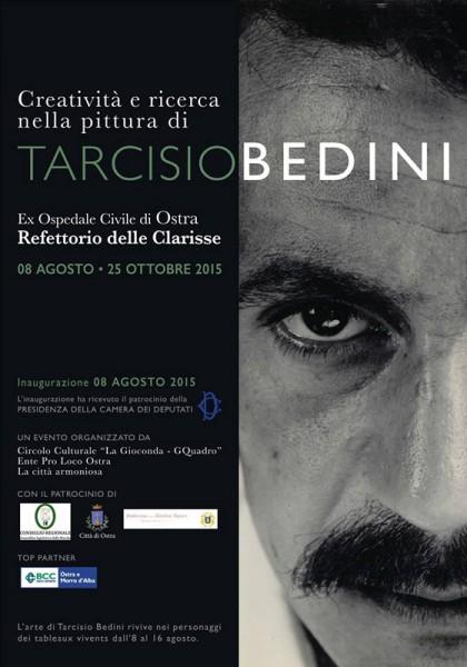 Locandina della mostra su Tarcisio Bedini a Ostra
