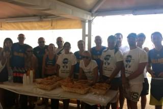Foto di gruppo per la US Pallavolo Senigallia ai Bagni Le Palme
