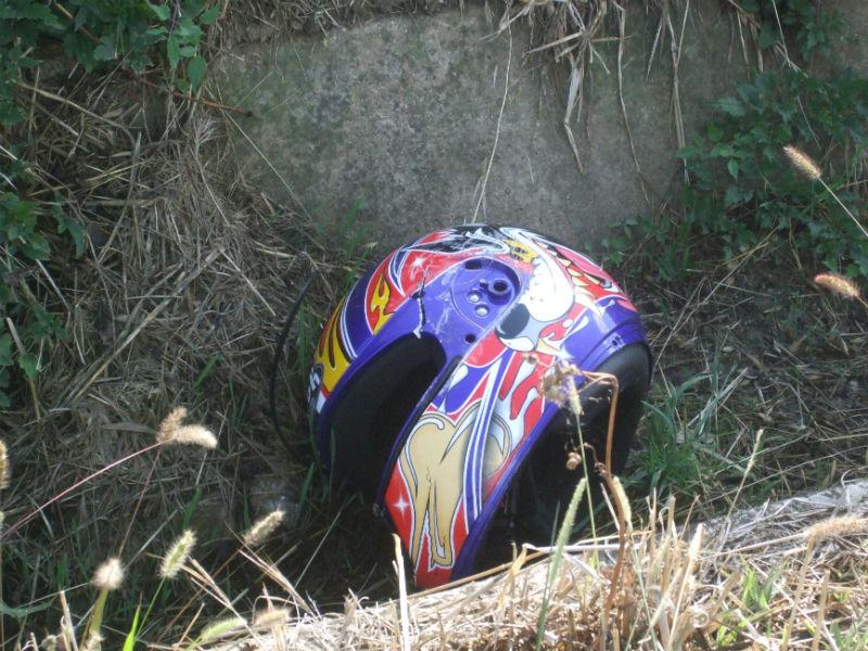 Il casco del ragazzo