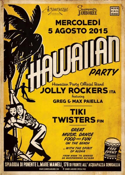 La locandina del Big Hawaiian Party al Summer Jamboree 2015