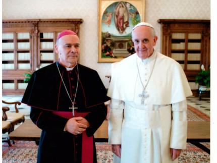 Orlandoni con Papa Francesco