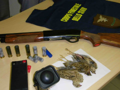 Materiale sequestrato dal Corpo Forestale dello Stato