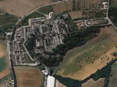 L'area cimiteriale delle Grazie a Senigallia (vista dal satellite)