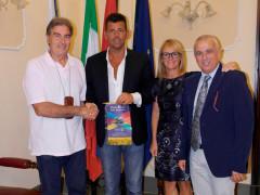 Il governatore Rotary in visita a Senigallia. Da sx Sergio Basti, Maurizio Mangialardi, Gianna Prapotnich, Roberto Coppola