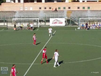 Un momento del match tra Vigor Senigallia e Urbania