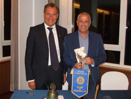 Luca Pagliari ospite del Rotary Club