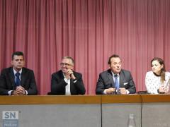 Senigallia: incontro imprenditori GIS - Mangialardi, Ceriscioli, Giacomelli, Bora