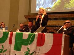 Camilla Fabbri all'incontro sulle trivellazioni organizzato dal PD Senigallia