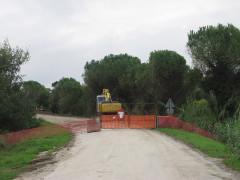 Lavori per la complanare su strada del Giardino, a Senigallia