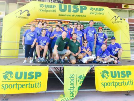 Il gruppo di giovani dell'Uisp di Modena