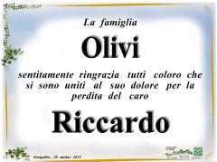 Manifesto funebre famiglia Olivi