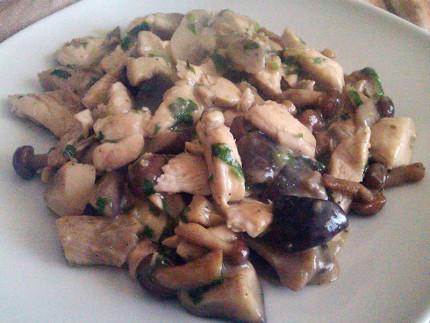pollo ai funghi con patate arrosto
