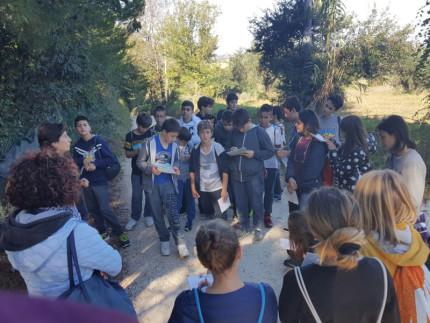 Gli alunni della Marchetti alla selva di Montedoro per l'iniziativa sull'ambiente