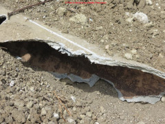 Residui di tubi in amianto rinvenuti a Senigallia