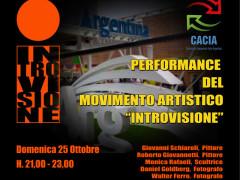 locandina della performance di Introvisione all'Expo di Milano, padiglione Argentina