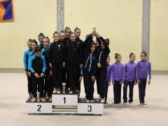 La Polisportiva Senigallia sul podio al palazzetto dello sport di Cuccurano per la prima prova del torneo allieve 1° e 2° fascia di ginnastica ritmica (GR) e ginnastica per tutti (GPT)