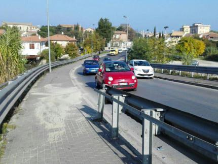 Il luogo dell'incidente, il ponte Zavatti a Senigallia
