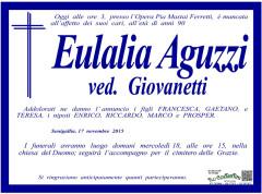 Manifesto per Eulalia Aguzzi