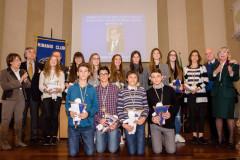 I ragazzi premiati con le borse di studio dal Kiwanis club di Senigallia