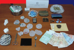 La droga sequestrata dai Carabinieri di Saltara