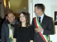 Manuela Bora tra Fabrizio Volpini e Maurizio Mangialardi