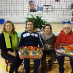 La premiazione dei due organizzatori del IV memorial di volley Pierangeli