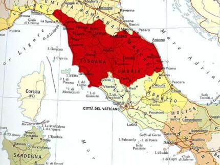Fusione tra Marche Umbria e Toscana